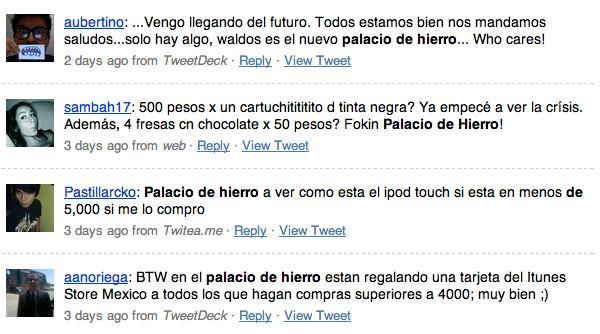 Palacio de Hierro en Twitter