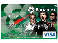 Tarjeta de la selección de banamex y visa