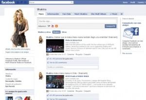 Facebook Shakira