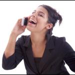 Mujer llamando por telefono