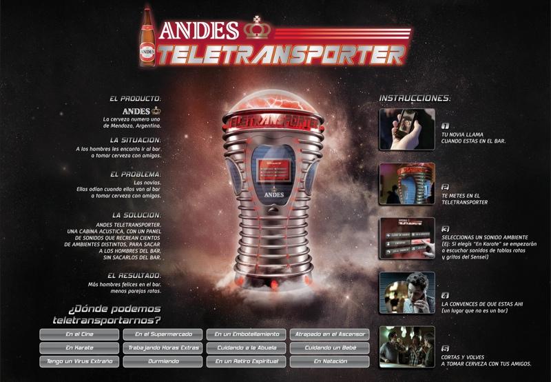 Teletransporter para Cerveza Andes