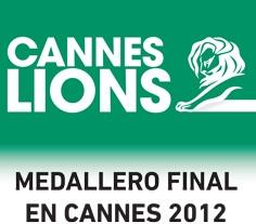 Medallero global Cannes Lions 2012: México ocupa el 15º lugar en Leones ganados