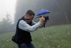 Una sombrilla para la cámara