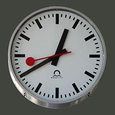 Swiss railway clock