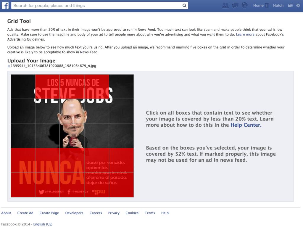 Herramienta 20% Facebook