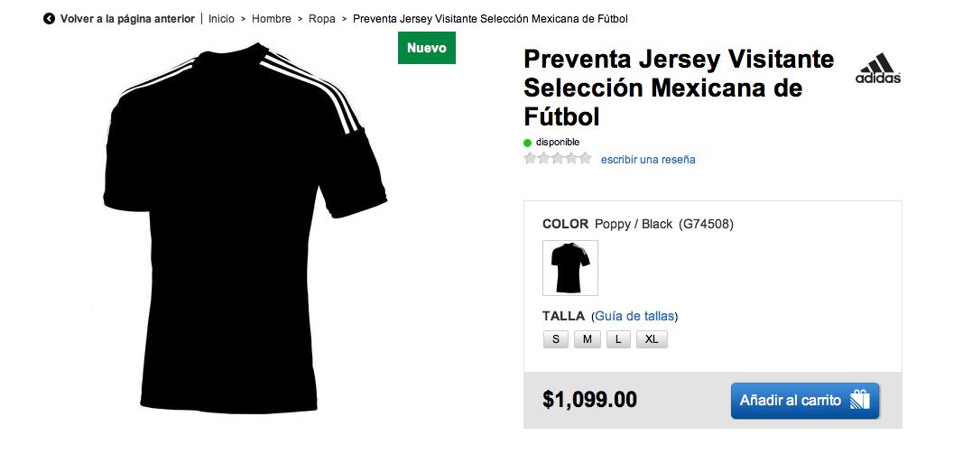 Adidas (no) presenta la playera de visita de México para Brasil 2014 ... 414ced145e7cf