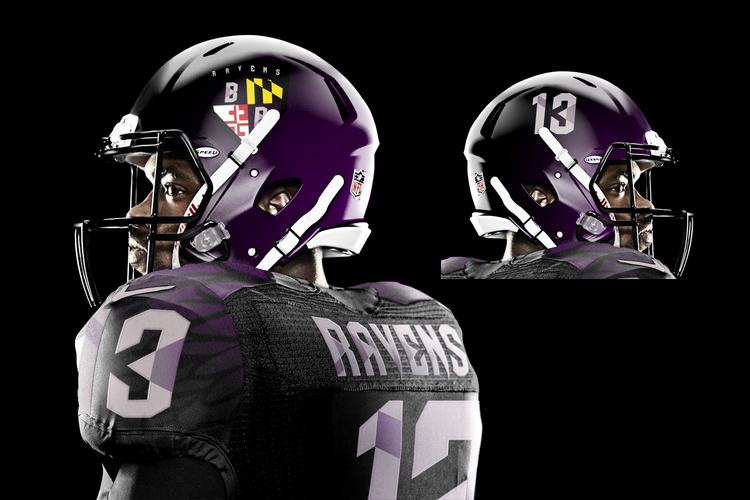 JesseAlkire_BaltimoreRavens_helmet
