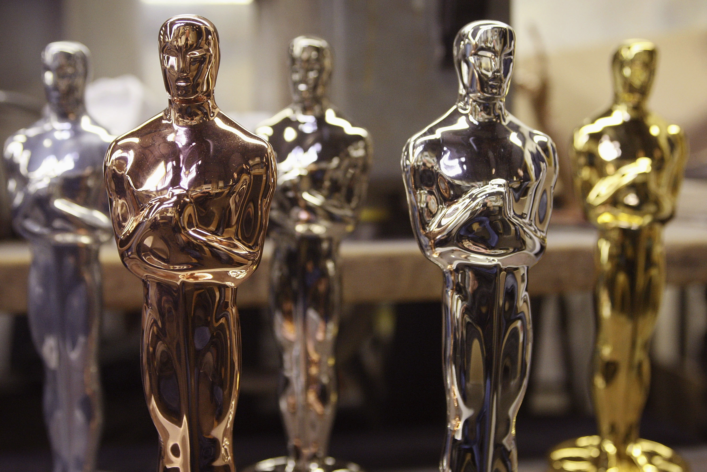 Ocsar Statues Are Made Ahead Of This Year's Academy Awards