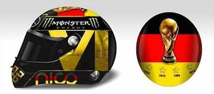FIFA negó a Nico Rosberg utilizar este casco