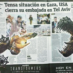 'Dan con todo' a periódico colombiano por comparar situación en Palestina con pelea de Transformers