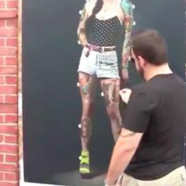 Street marketing interactivo: el tatuado arrepentido