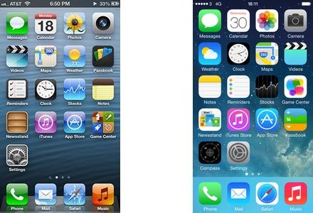 iOS 6 versus iOS 7