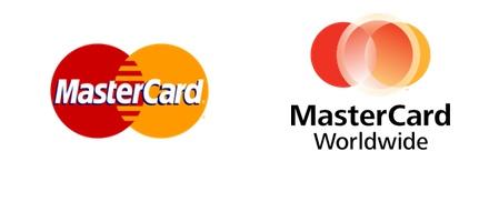 Los dos logotipos de Matercard conviven hasta la fecha, el primero más reconocido en tarjetas y materil consumidor, el segundo a nivel corporativo.