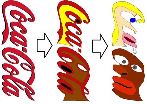 Logotipo coca cola mensaje subliminal