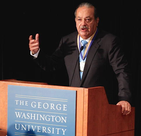 George Washington University Honors Mexican Billionaire Carlos Slim