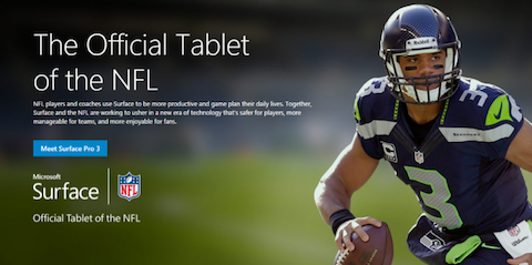 surface microsoft nfl
