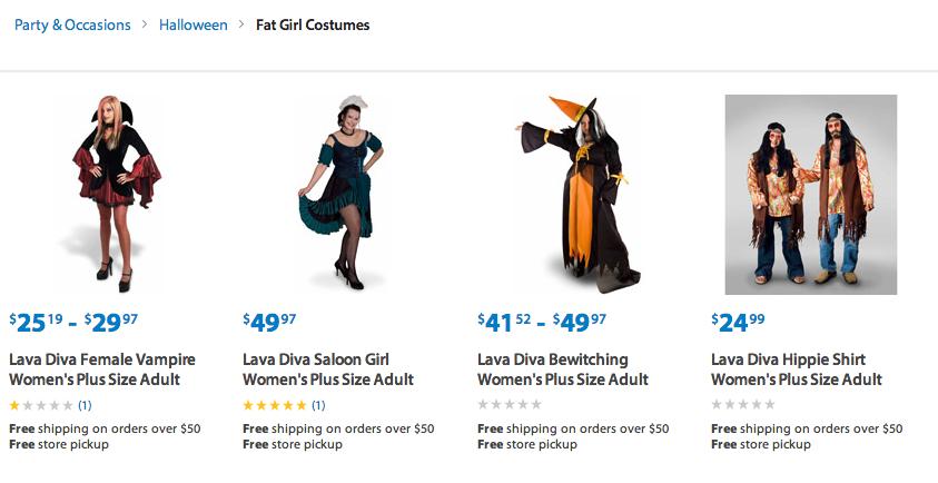 fat girls costumes