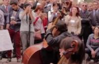 El flashmob de la solidaridad
