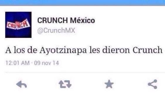 Crisis de marca: Crunch México y su lamentable tweet