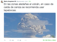 Explosión del volcán de Colima impacta en redes sociales