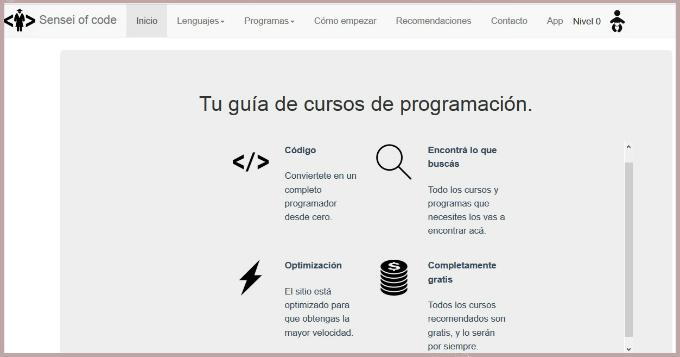 guia de cursos e programacion