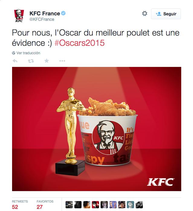 5 acertados tuits marketeros de los Oscars 2015