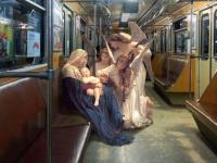Obras de arte clásicas colocadas en escenarios actuales