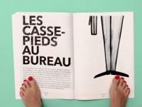 La marca Hansaplast crea la primera revista para leerse con los pies