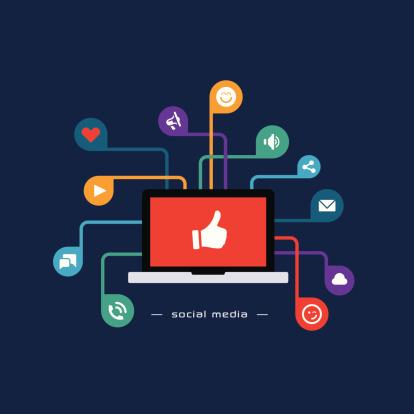Social media flat design