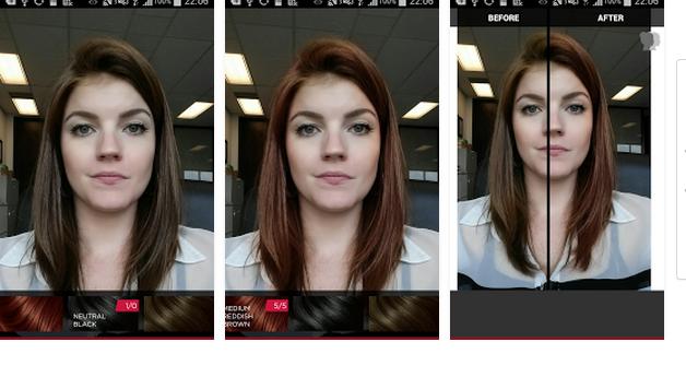 Aplicacion para color del cabello