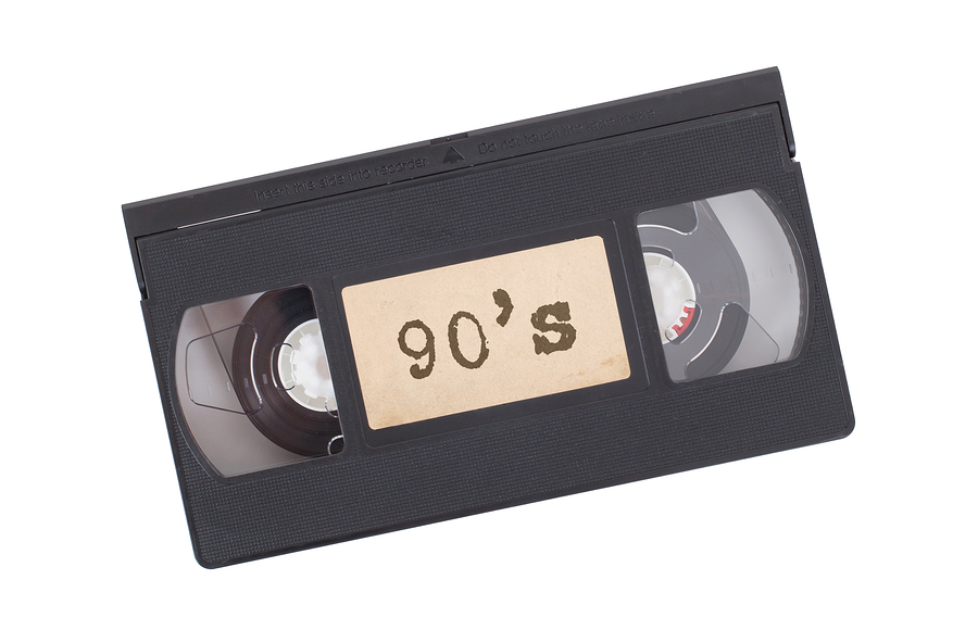 Retro videotape isolated on a white background - 90s