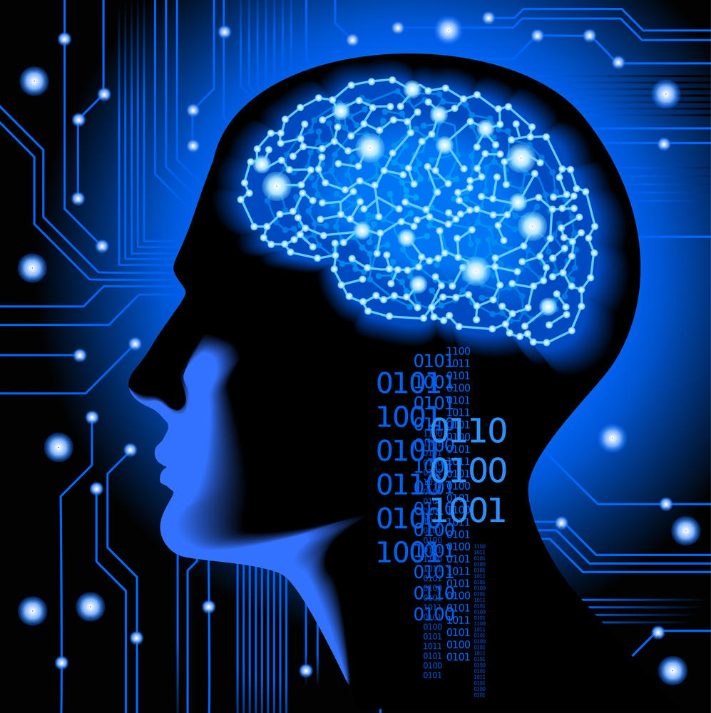 the concept of human thinking.Abstract science background with brain.