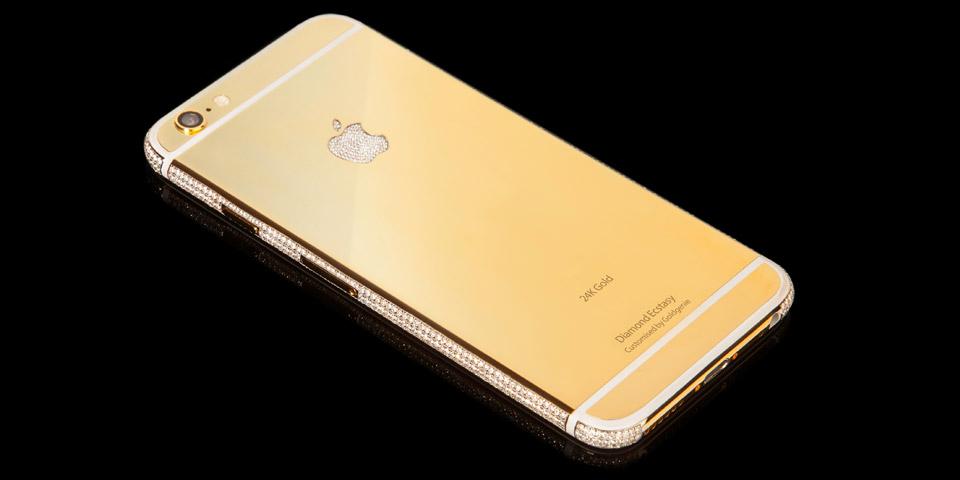iPhone 6 de oro y diamantes