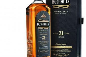 Bushmills 21 Year Old Single Malt Bottle Carton