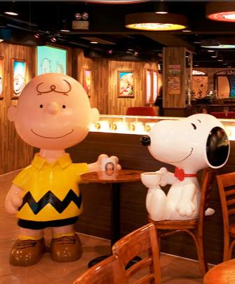 Resultado de imagen para restaurante tematico snoopy singapur