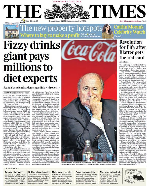 portada de The Times