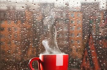otoño café lluvia