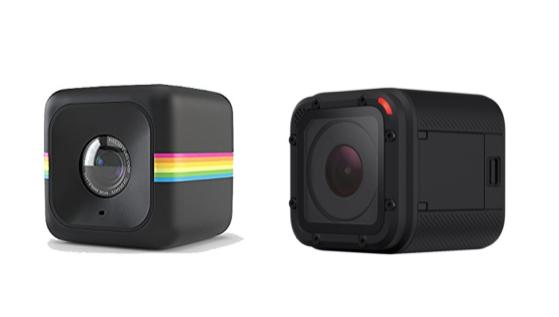 A la izquierda, la Polaroid Cube, a la derecha la GoPro Session. Imágenes: Amazon.