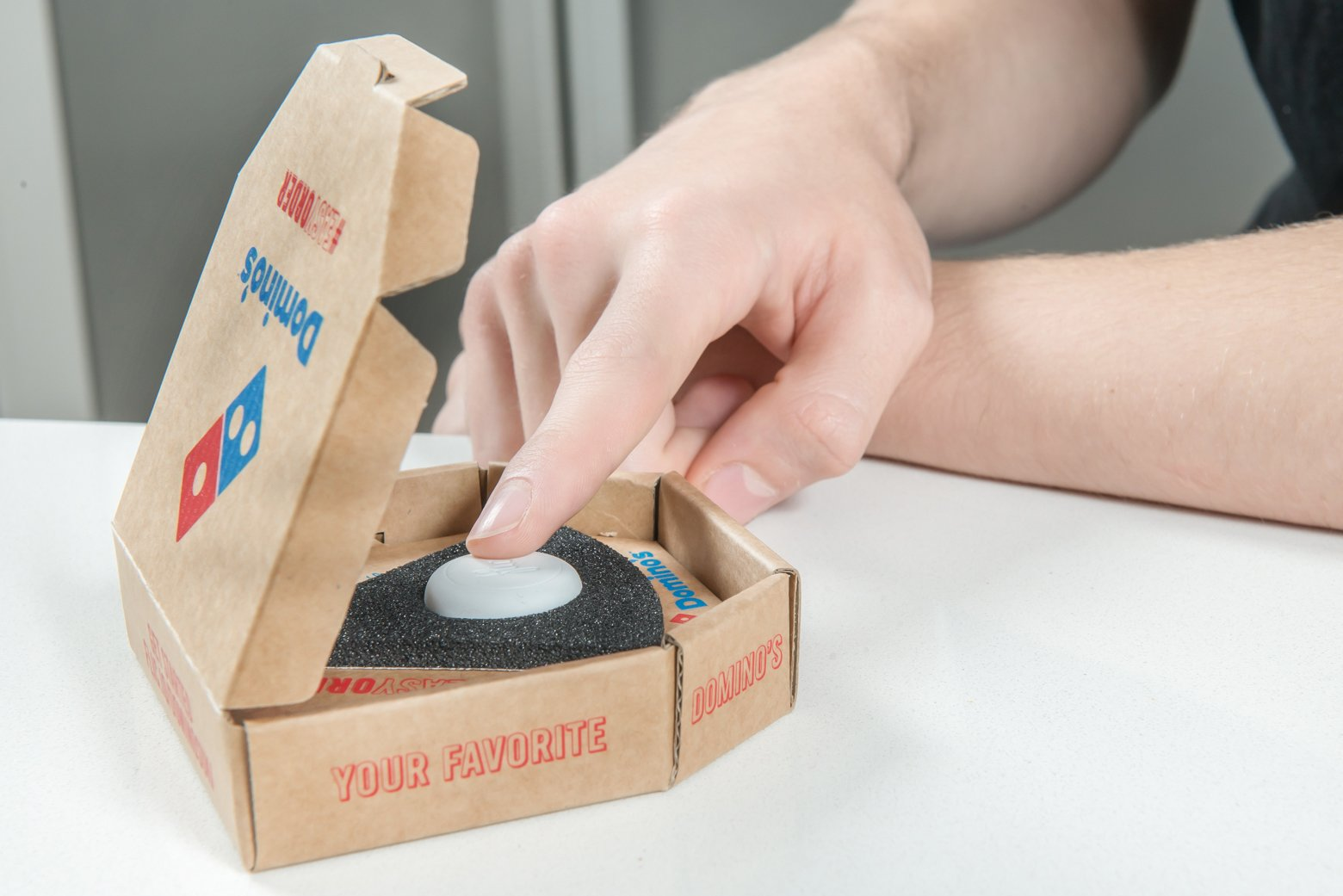 Domino's launches The Limited Edition Easy Order button allowing pizza lovers to order their favourite pizza straight to their door at the touch of a button.