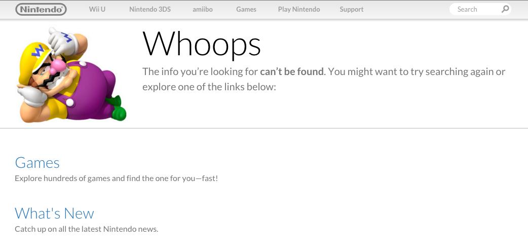 Nintendo 404