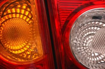 car lamp close-up