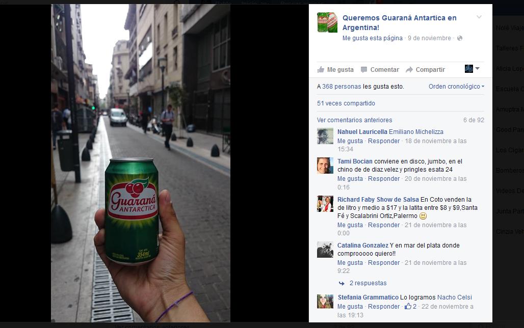 guarana en argentina facebook