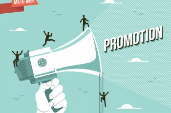 Web marketing promotion illustration. This vector file it's layered for easy editing.