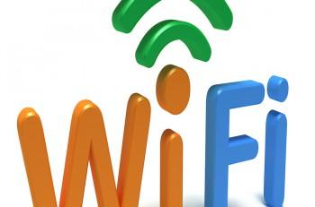WiFi logo. 3D concept isolated on white