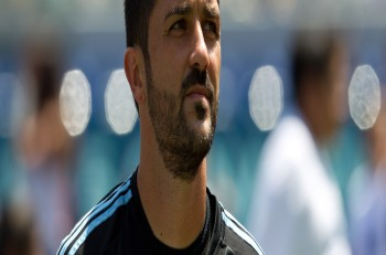 CARSON, CA. - AUG 23: David Villa during the L.A. Galaxy game against New York City FC on Aug 23, 2015 at the StubHub Center in Carson, California.