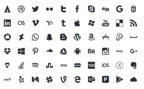 Sitio Del Día Picons Iconos De Redes Sociales Para