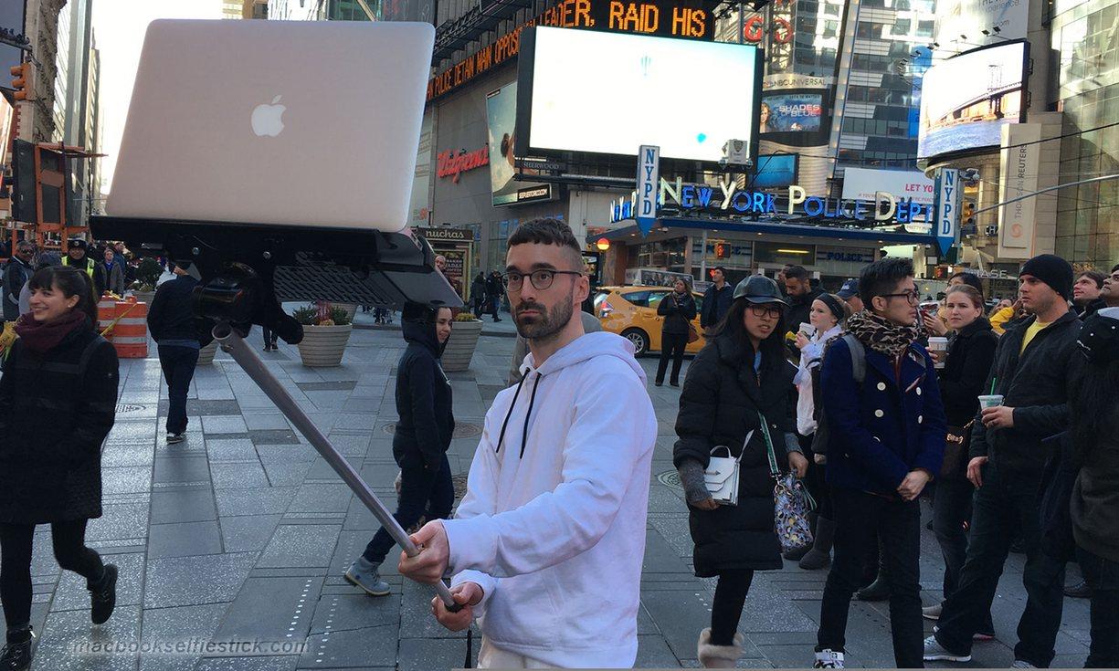Selfie stick laptop 2