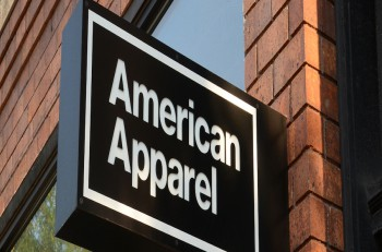 ANN ARBOR MI - AUGUST 30: American Apparel whose Ann Arbor store logo is shown on August 30 2014 had its credit rating downgraded recently by Standard & Poor's.