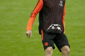 MUNICH, GERMANY May 18 2012 Chelsea's Spanish forward Fernando Torres during the official Chelsea training for the 2012 UEFA Champions League Final played at the Allianz Arena Munich