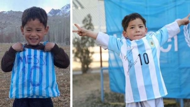 A través de Unicef, el niño afgano tiene la playera de Messi